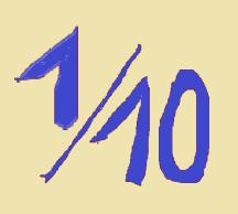 jedna dziesiąta