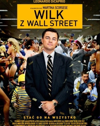 Wilk z Wall Street. plakat